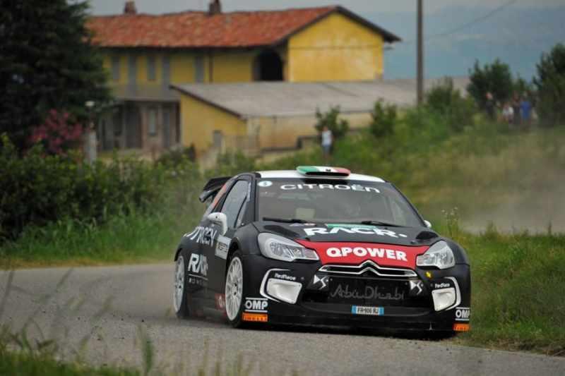 Luca Pedersoli con la Citroen DS3 WRC al Rally di Alba